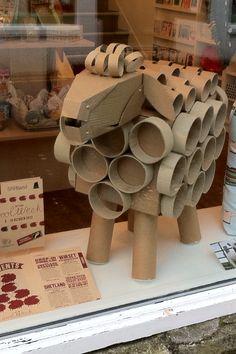 cardboard sheep window display