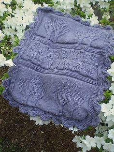 Tree of Life Baby Blanket - Mary Maxim - Knit and Crochet