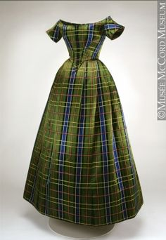 Dress  1860   Gift of Mrs. Hugh Phillips  M974.15.1-4  © McCord Museum