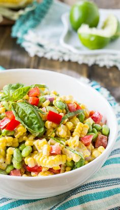 Roasted Corn and Edamame  Salad | spicy southern kitchen
