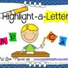 teaching resources, letter recognition, small group activities, morning work, word work, teacher, kindergarten centers, highlight, letter identification