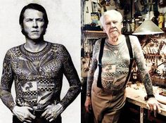 """Love him!  As a tattooed man I get asked all the time:  """"Do you know how you're going to look when you're old?""""  My general answer: """"Yeah, sure. Like a badass."""""""
