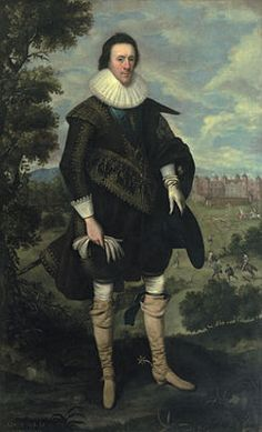 Portrait of William Cecil, 2nd Earl of Salisbury. William was the son of Robert Cecil, 1st Earl of Salisbury, and his wife, Elizabeth Brooke, daughter of Baron Cobham. Like his forefathers, the second earl was an English peer and politician. He married Lady Katherine Howard, daughter of the 1st Earl of Suffolk; they had 12 children.