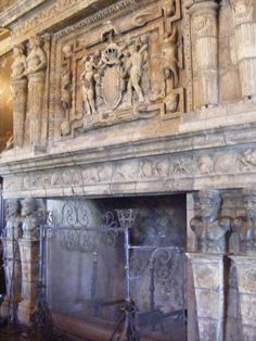 Fireplace at Hearst Castle