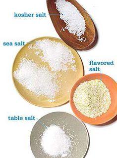 How To Use Different Types of Salt via @rachaelraymag  rachaelraymag.com