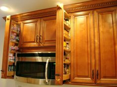 built in kitchen hutch with microwave - Google Search