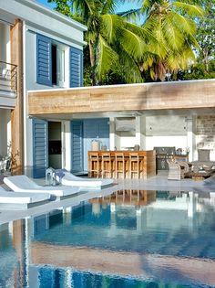 dreams, barbados, dream homes, beach houses, outdoor bars, dream houses, pool bar, outdoor pools, beach front