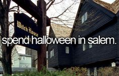 I've been obsessed with going to Salem lately. It would be so fun!