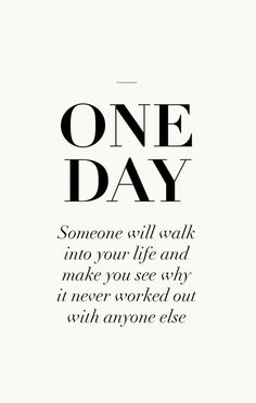 One day one day