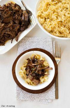 Crockpot Balsamic Beef Recipe - i heart eating