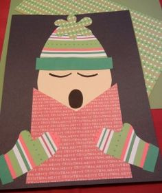 Christmas Caroler craft with printable pattern
