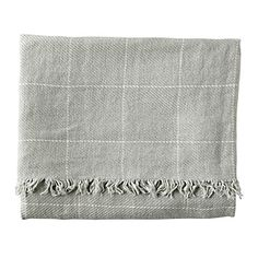 Linen Window Pane Throw – Mist | Serena & Lily