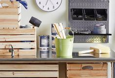The Workshop on OneKingsLane.com featuring Wall Control metal pegboard