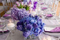 blue and lavendar
