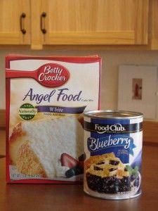 Gooey Blueberry Angel Food Cake Dessert Recipe {2 ingredients!}The Frugal Girls in Dessert Recipes, Recipes