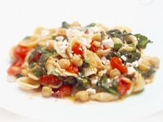 Orecchiette with Greens, Garbanzo Beans and Ricotta Salata from FoodNetwork.com