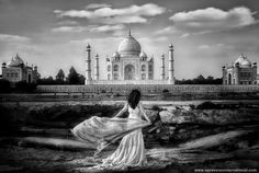 This image was made in India, in the city of Agra. The bride looks at dawn the beauty of Taj.      This photograph has received numerous awards among which:      First Place (Wedding) WPPI 2010 Las Vegas.    Second Place (Wedding) PPA 2011. Grand Imaging Award.    QEP Wedding Collection    IPPA Gold Award 2011