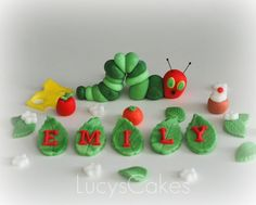 The very hungry caterpillar cake topper by www.lucys-cakes.com, via Flickr
