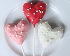 Heart Cake Pops with Pearls