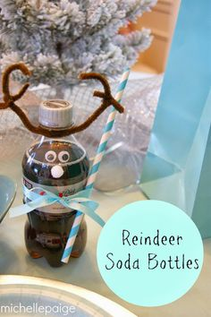 michelle paige: Soda Bottle Reindeer