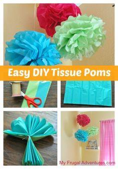 How to Make Tissue Poms