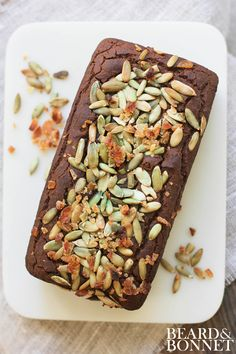 Pumpkin Loaf  {Beard and Bonnet} #glutenfree and #vegan