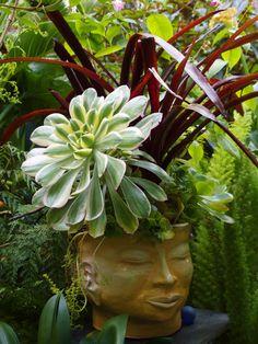 decorative head planter