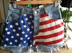 flags, flag short, diy american, american flag, shorts, salut