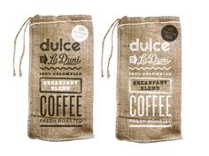 wedding favors, dulc coffeebag, print coffe, screen print, coffee packaging