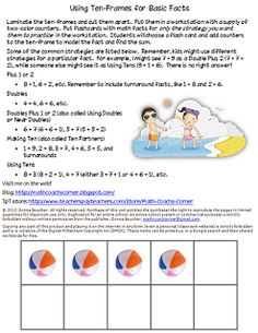 Math Coachs Corner: It All Adds Up. There is a lot of difference of thought over basic math facts--how and even if they should be memorized.  The truth is that facts are like the sight words of math.  Students need to be fluent with their basic facts to free up their mental energy to tackle tougher mathematics.