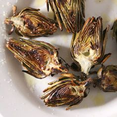 Baby artichokes are