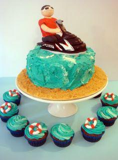 jet ski cake, groom cake