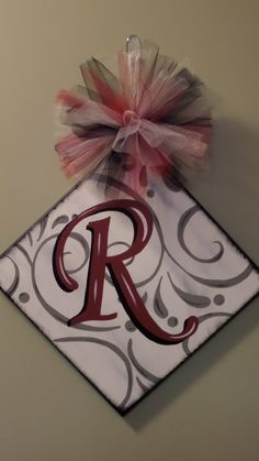 Personalized, Hand Painted , Canvas Monogram Initial Wall Art