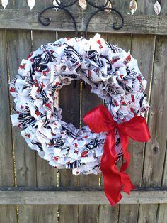 University of Louisville  Cardinals Wreath by ZenaCraftyPrincess, $30.00