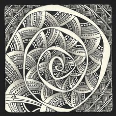 Enthusiastic Artist: Still spinning. Monotangle by Margaret Bremner, Certified Zentangle Teacher