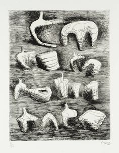 Henry Moore ink drawing