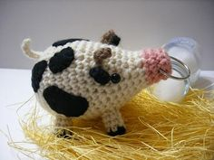 Amigurumi Pig - free crochet pattern (use Google Translate)