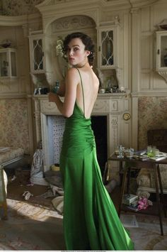 I have a thing for emerald green silk, as you can see....