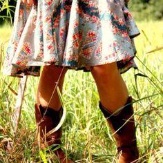 cowboy boots, casual dress