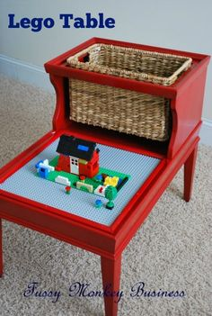 Lego Table by Fussy Monkey Business- repurpose