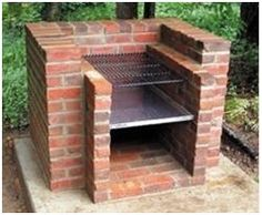 396 Free Do It Yourself Backyard Project Plans -  Photo:  DIY Brick Backyard Barbecue from ExtremeHowTo.com