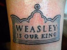 Weasley - 15 Simple & Subtle Harry Potter Tattoos