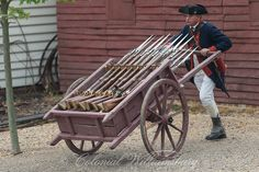 A hand cart loaded with muskets at the Armoury, shot for the Transportation book. Photo by David M. Doody