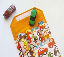 Handmade Car Wallet by Ann Kelle. So perfect for Christian since he has to take his cars everywhere!
