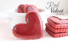 Red Velvet Cut Out Cookie Recipe with Red Velvet Icing by @createdbydiane YUM!