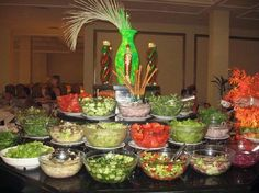 SALAD BAR! for weddings, parties, etc. Absolutely perfect for outdoor summer weddings!