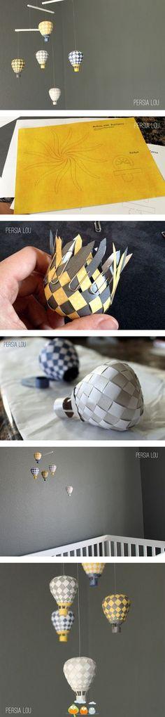 diy balloon mobile