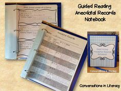 Guided Reading Anecdotal Records Notebook$-using anecdotal records to organize and manage student learning- getting my notebook ready now!