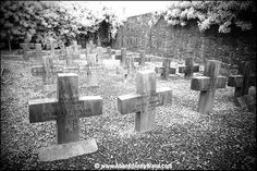 "The Nun's graveyard.  Every grave is marked ""Here lies Sister Mary"".  The Magdalen Asylum, Co. Cork., Ireland"