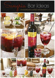 #Sangria Bar Ideas- http://atozebracelebrations.com/2014/06/sangria-bar-ideas.html